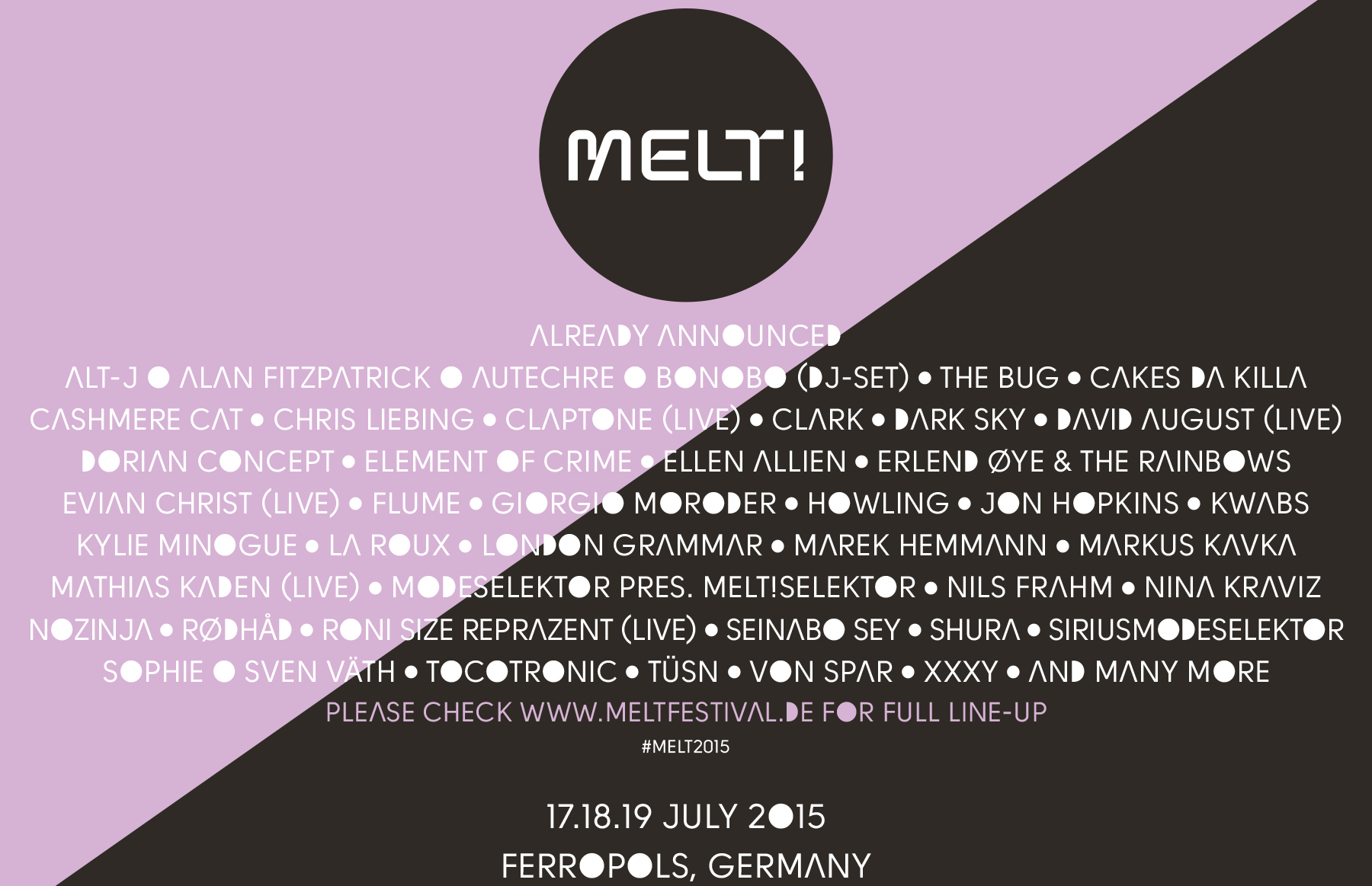 Melt already announced