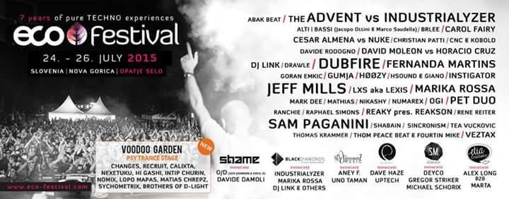 Eco Festival lineup